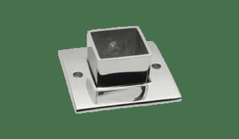 Base pared para poste cuadrado 40x40 barandilla inox AISI-316 (Caja indivisibles 2 unidades / precio por unidad!!)