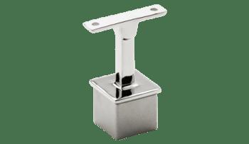 Soporte fijo para unir pasamanos a poste cuadrado 40x40 mm inox (Caja indivisible 2 unidades / precio por unidad!!)
