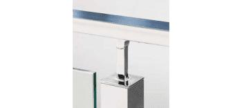 Soporte fijo para unir pasamanos a poste cuadrado 40x40 mm inox (Caja indivisible 2 unidades / precio por unidad!!) - 1