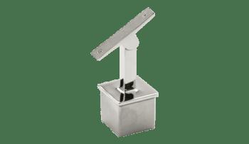 Soporte regulable para unir pasamanos y poste 40x40 mm inox (Caja indivisible 2 unidades / precio por unidad!!)