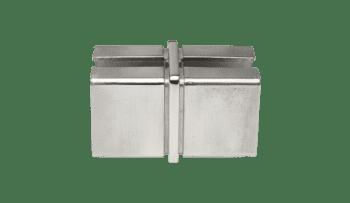 Unión para tubos cuadrados 40x40 mm pasamanos barandilla inox (Caja indivisible 2 unidades / precio por unidad!!)