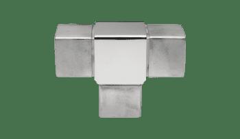 Conector para poste intermedio tubo cuadrado 40 mm inox (Caja indivisible 2 unidades / precio por unidad!!)