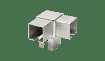 Conector para poste esquinero cuadrado 40 mm inox (Caja indivisible 2 unidades / precio por unidad!!)
