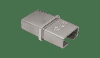 Unión recta para pasamanos rectangular 40x20 mm inox AISI-316 (Caja indivisible 2 unidades / precio por unidad!!)