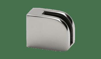 Grapa para vidrio en barandilla inox poste cuadrado AISI-316 (caja 4 unidades)