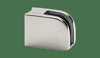 Grapa para vidrio (8 - 10 mm) en barandilla inox poste redondo AISI-316 (Caja  indivisible 4 unidades // precio por unidad!!)