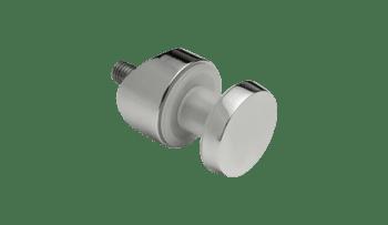 Botón para barandillas de vidrio en poste redondo inox AISI-316 (caja 4 unidades)