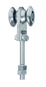 Roldana simple ECO con rodamiento de bolas para guía 60x55 mm AUMON