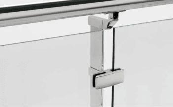 Grapa vidrio poste intermedio para barandilla inox MINIMAL (Caja indivisible 2 unidades / precio por unidad!!) - 1