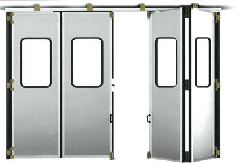 Kit accesorios soldar para puerta librillo composición 2+2 sin goma y con encuentro