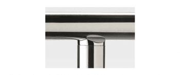 Apoyo tubo bajo para barandilla inox AISI-316 (caja indivisible 2 unidades / precio por unidad!!) - 1