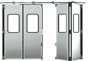 Kit accesorios soldar para puerta librillo composición 2+2 con goma y con encuentro