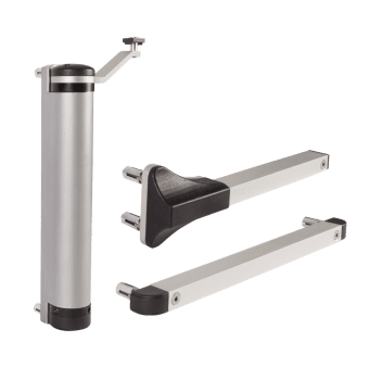 Cierrapuertas hidráulico compacto para puertas batientes exteriores