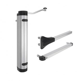 Cierrapuertas hidráulico vertical compacto para puertas batientes exteriores