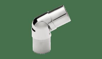 Conector regulable para pasamanos redondos inox  AISI-316