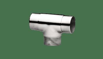 """Conector forma """"T"""" para poste intermedio barandilla inox AISI-316"""