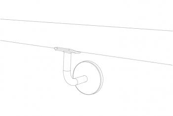 Ejemplo de pasamanos inox tubo redondo ST-353 - 1