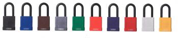Candados industriales con recubrimiento plástico y arco normal ABUS / Caja 6 unidades - 1