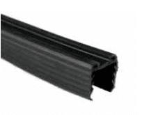 Goma negra de 5 metros para pasamanos inox en barandilla vidrio