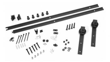 Kit herrajes rústicos para puertas de madera, color negro