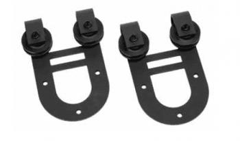 Set / pareja poleas tipo granero para puerta corredera superior
