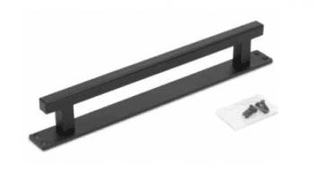 Tirador rústico cuadrado en color negro