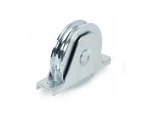 Ruedas con soporte atornilllar de doble rodamiento, canal redondo 20 mm
