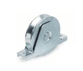 Ruedas con soporte atornilllar de doble rodamiento, canal angular