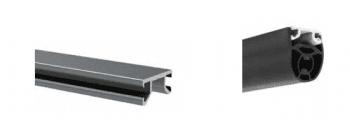 Perfil soporte borde sensible, barra 3 metros en aluminio