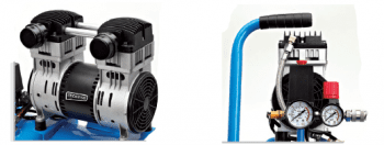 Compresor de acoplamiento directo 24 L y 1 HP serie SILENCE - 1