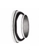 Base pared redonda + tapa roscada inox  para barandilla (Caja indivisible 2 unidades / precio por unidad!!)