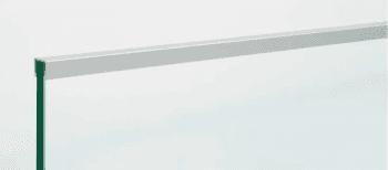 Pasamanos en U de aluminio anodizado 2,5 metros para barandilla vidrio - 1