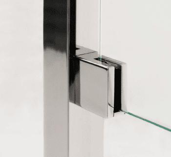 Grapa plana cuadrada para vidrio en barandilla inox AISI-316 (Caja indivisible 4 unidades // Precio por unidad!!) - 1