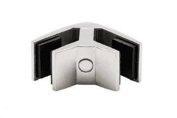 Pinza para vidrio tramo esquina inox  AISI-316  (Caja indivisible 2 unidades // precio por unidad!!)