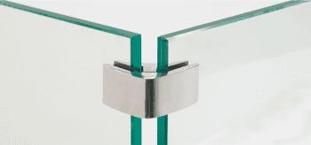Pinza para vidrio tramo esquina inox  AISI-316  (Caja indivisible 2 unidades // precio por unidad!!) - 1