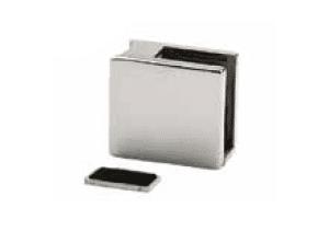 Grapa cóncava cuadrada para vidrio (12-16 mm) poste redondo  barandilla  inox AISI-316 (Caja indivisible 4 unidades // precio por unidad!!))