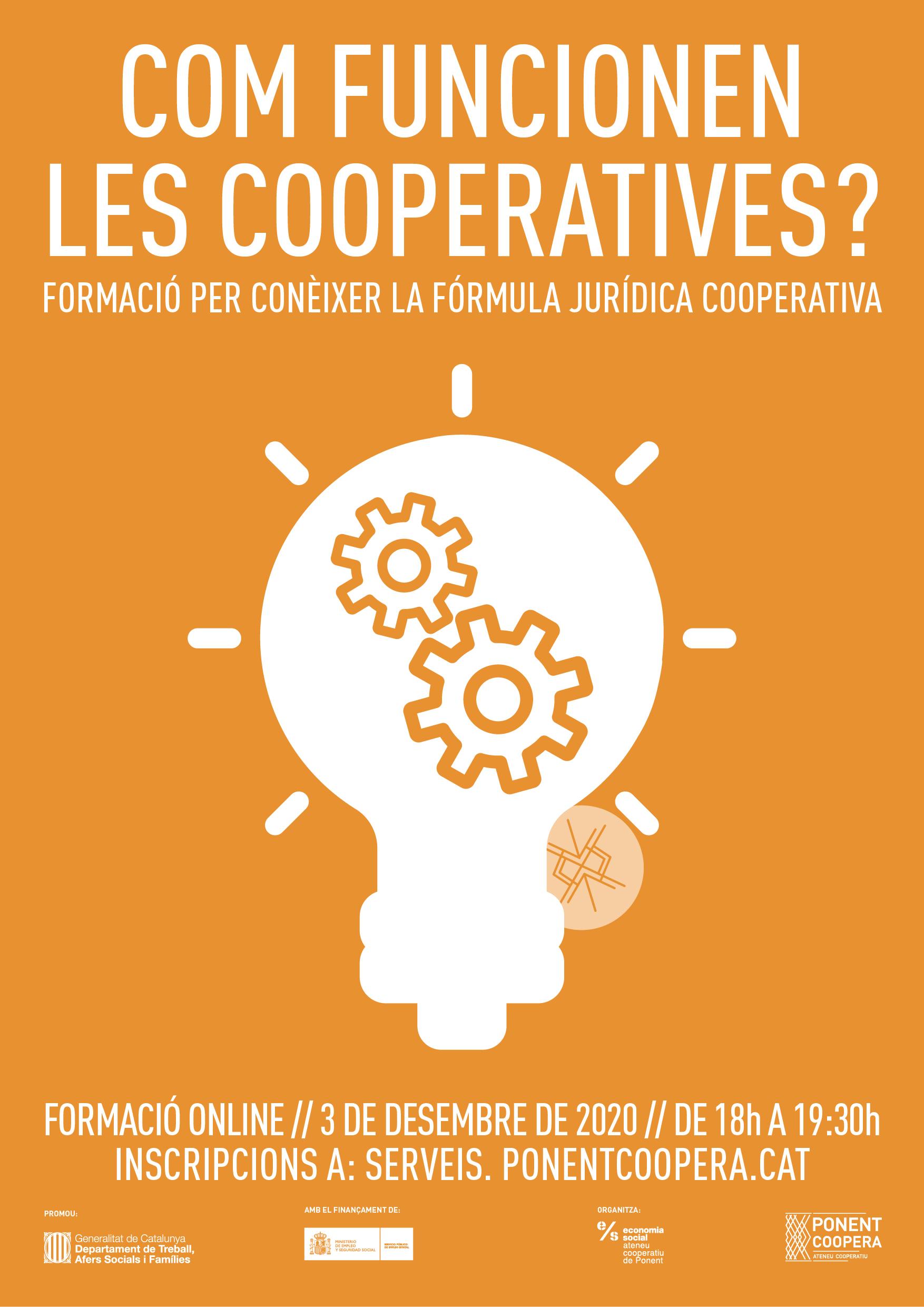 Formació per conèixer la fórmula jurídica cooperativa pel teu projecte empresarial