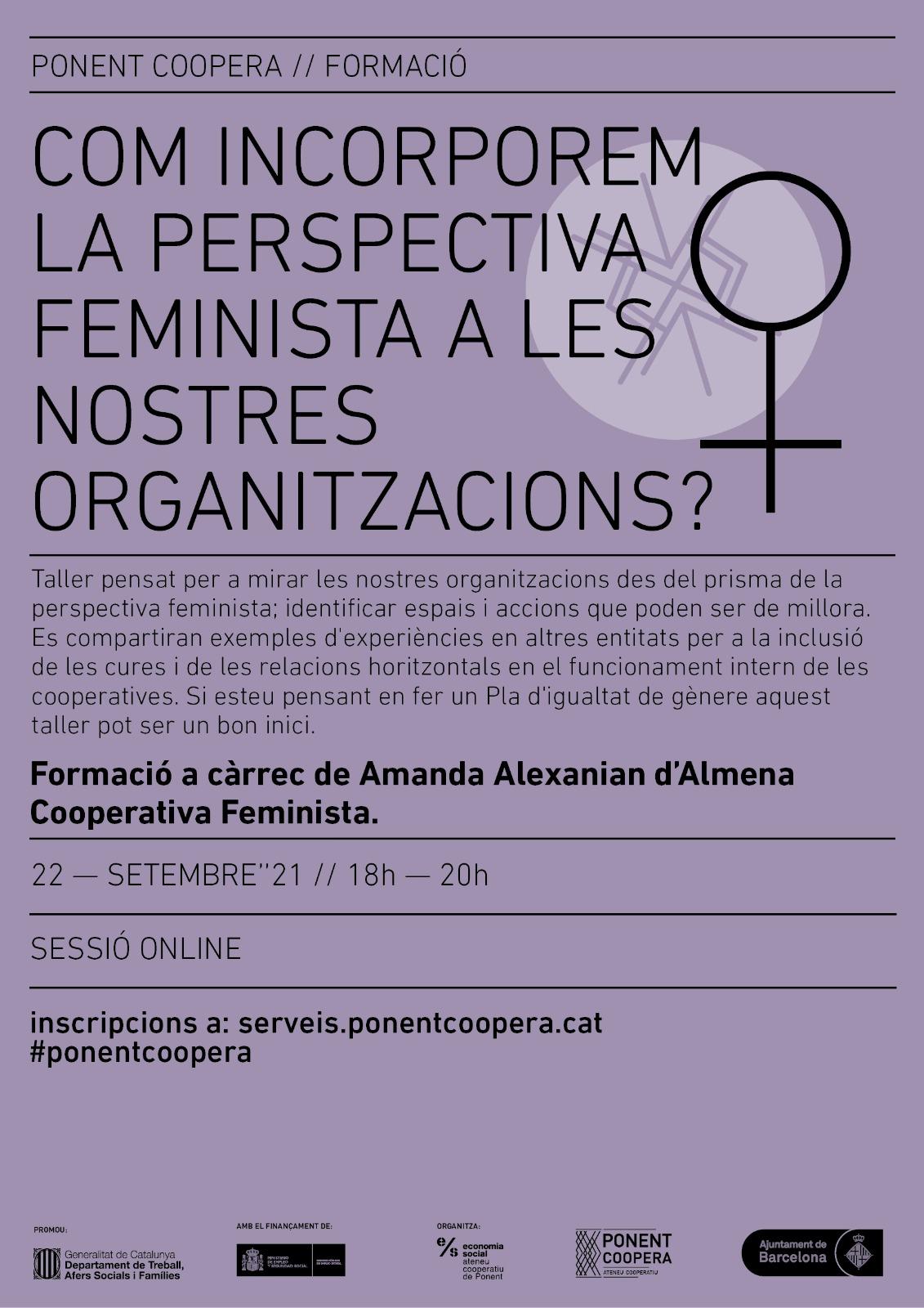 Com incorporem la perspectiva feminista a les nostres organitzacions?