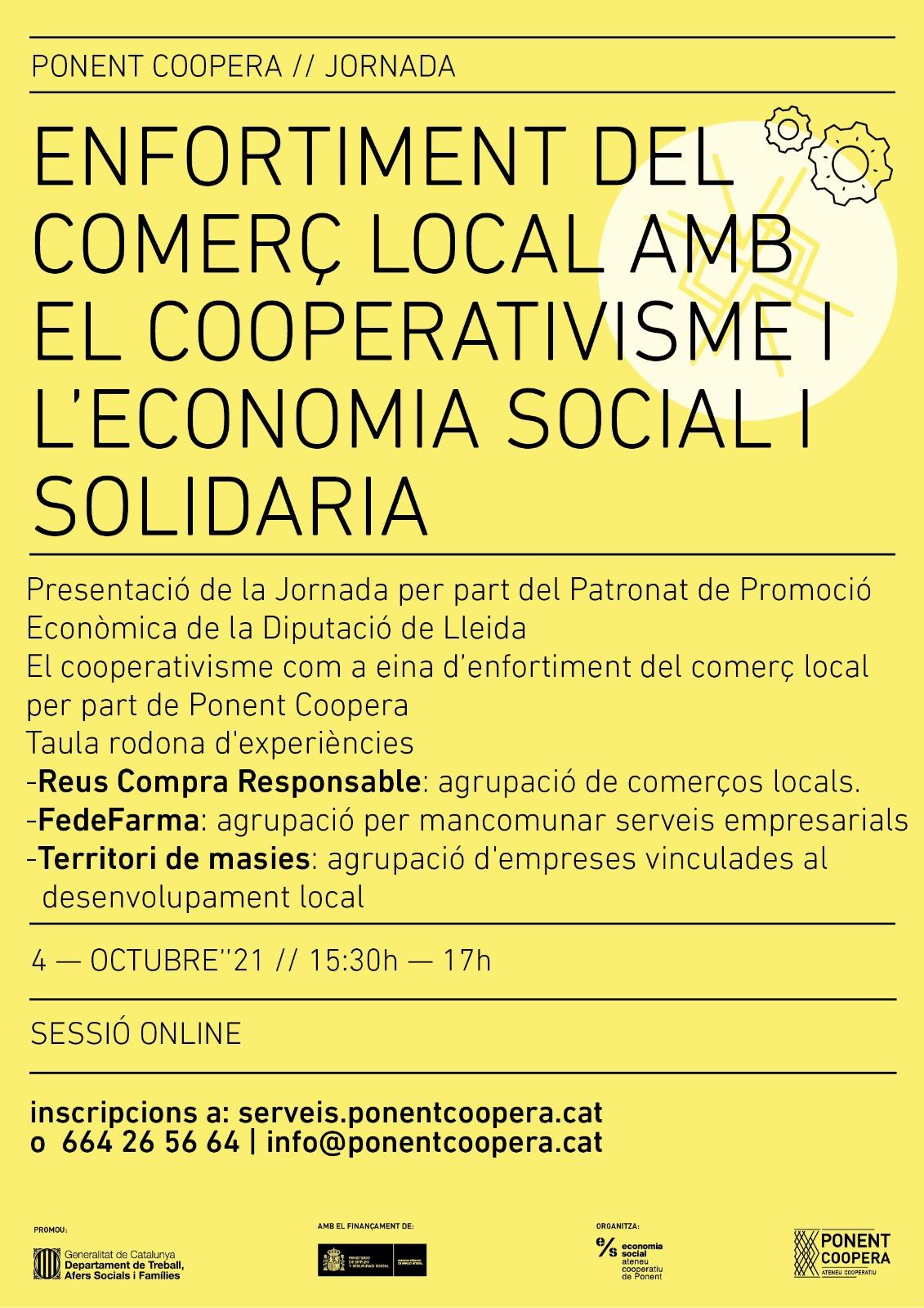 Jornada Enfortiment del comerç local amb el cooperativisme i l'ESS