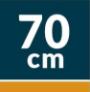 otros: 70cm