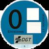 Etiqueta 0 emisiones, Azul